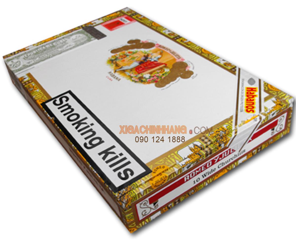 Xì gà Romeo Y Julieta Wide Churchills hộp 10 điếu TPHCM 0901241888 - 256 Pasteur Q3